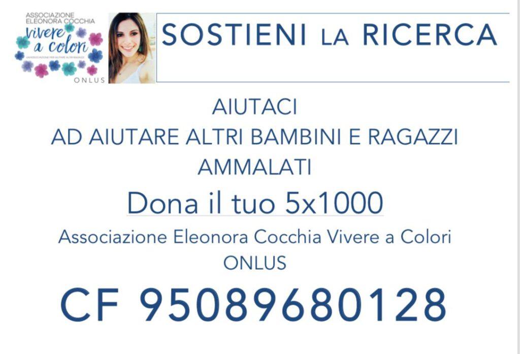 dona il tuo 5x1000 a Associazione Eleonora Cocchia Vivere a colori